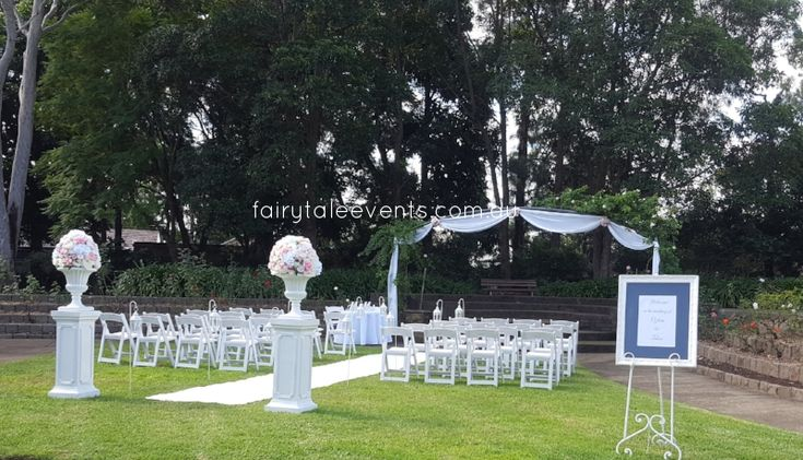 Outdoor Ceremony Auburn Botanical Gardens by Fairytale Events