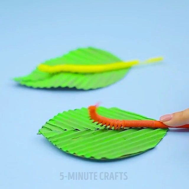 """10.7k Likes, 71 Comments - Tag A Friend&Share This Page! (@diy.amazing.diy) on Instagram: """"How to make a cute moving caterpillar from straws.🐛 By 5minutecrafts #caterpillar #straws #diy…"""""""