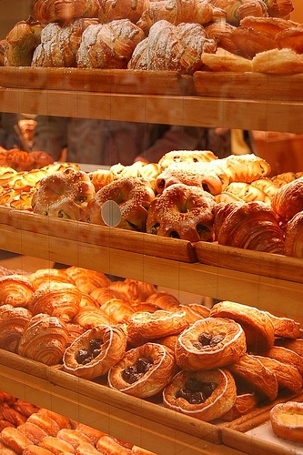 Department store food market, Kyoto, Japan 京都デパ地下 Love Japanese bakeries. Baked goods are displayed out on shelves. When you enter trays & thongs are provided for you. Their pastries are not as sweet as ours. To me they are better........v