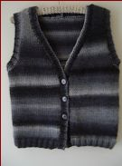 Knitting pattern for a ladies vest in two styles, in plus sizes.