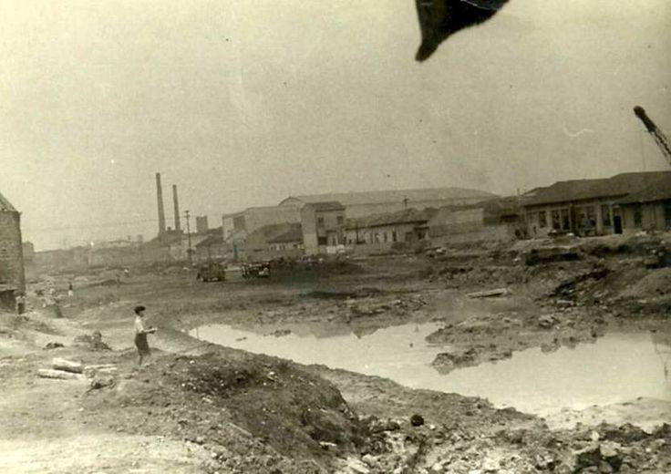 Construção da Radial Leste 1954