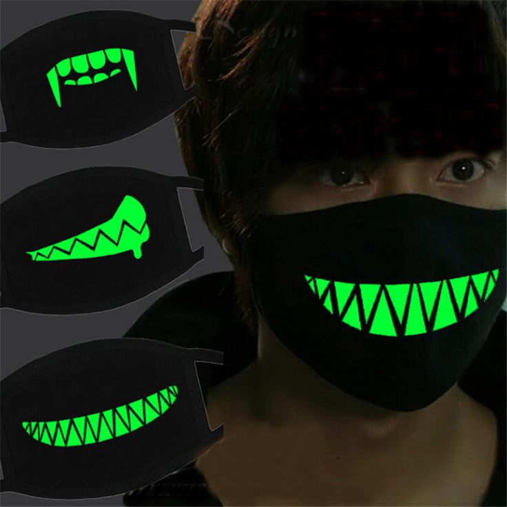 Aliexpress.com : Buy Creative Black Luminous Cotton Dust Mask Personality Teeth Anti fog Haze Fashion Mouth Mask Party Halloween Horror Mask QB972469 from Reliable halloween horror mask suppliers on Event & Xmas Supplies Store