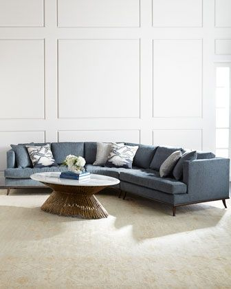 Capri+Curved+Sectional+Sofa+by+Ambella+at+Neiman+Marcus.