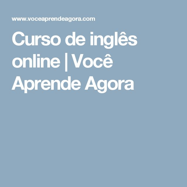 Curso de inglês online | Você Aprende Agora
