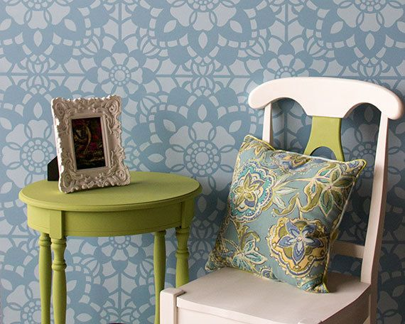 17 migliori idee su stencil da parete su pinterest - Stencil camera da letto ...