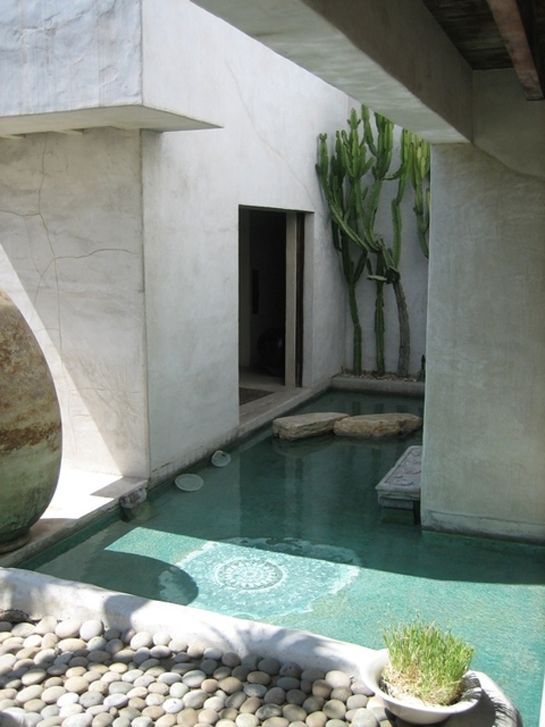 poolDreams, Venice Beach, Water Features, Yoga Studios, Step Stones, Gardens, Outdoor Spaces, Pools, Stepping Stones
