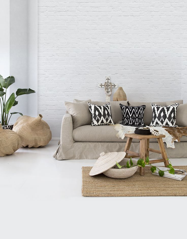 The TRIBAL Collection Australian made cushions  - Featuring our 'Spearheads' and 'Zulu' cushions. -  Photo and Styling by The Design Villa