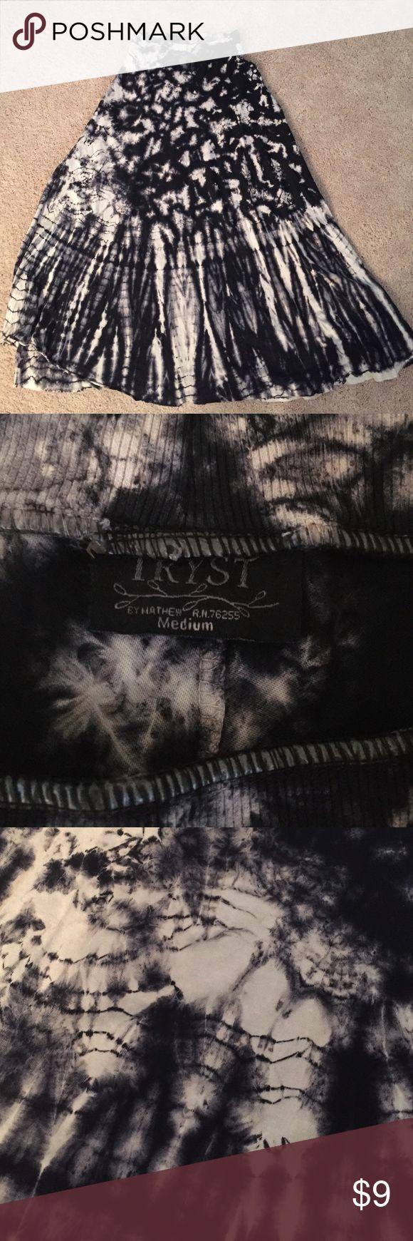 Navy Tye Dye Maxi Skirt Soft cotton Maxi skirt. Comfy! Purchased at Dillard's tryst Skirts Maxi