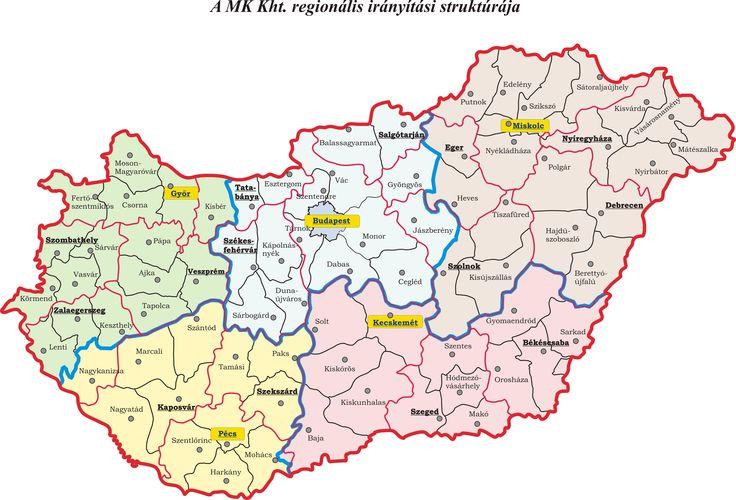 Magyarország regionális térképe (4696×3192)