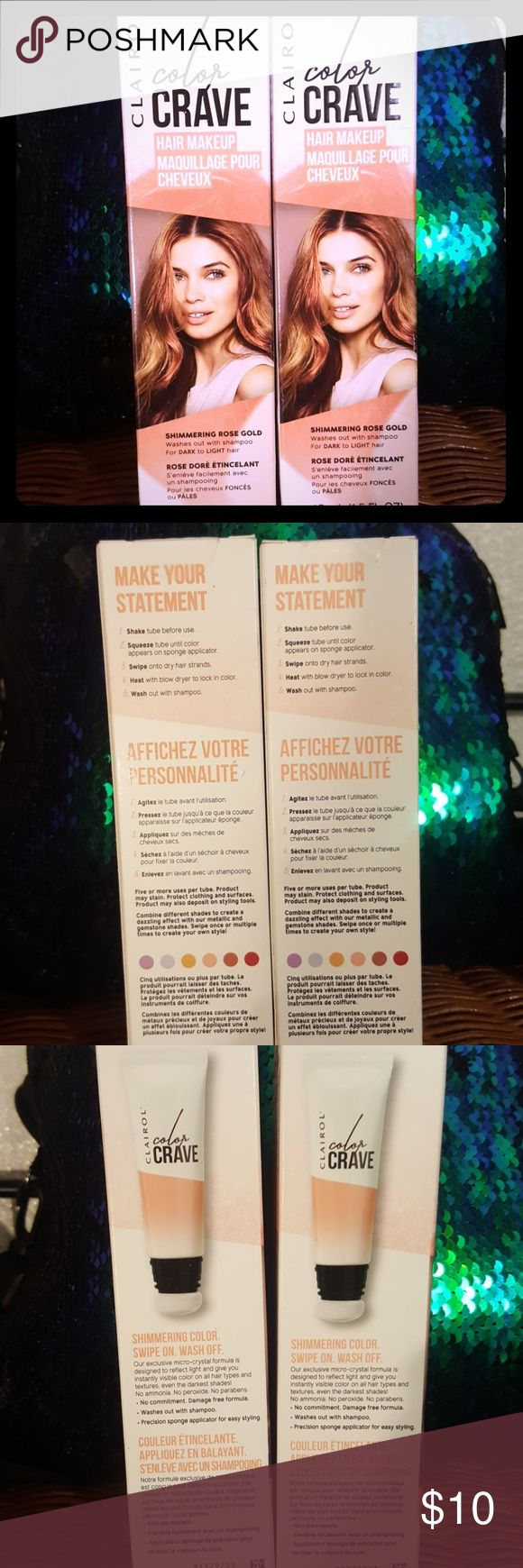 (2) New in Box Rose Gold Clairol Hair Makeup Clairol Color