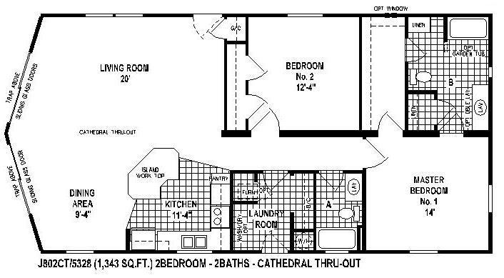 Single Wide Mobile Home Floor Plans 2 Bedroom Mobile Home Floor Plans Mobile Home House Floor Plans
