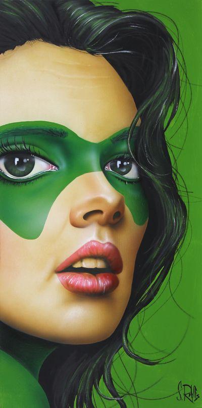 Scott Rohlfs - female Green Lantern, mask, superhero
