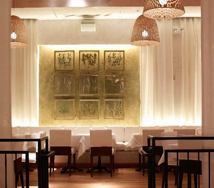 Modern restaurant wall interior decoration fig olive new - Deco cuisine new york ...
