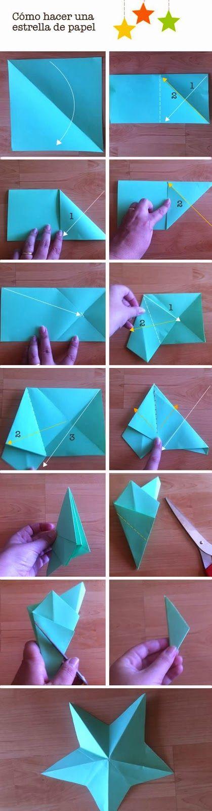 cómo hacer estrellas de papel paso a paso