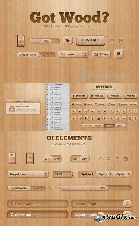 MediaLoot - Got Wood - UI Design Elements