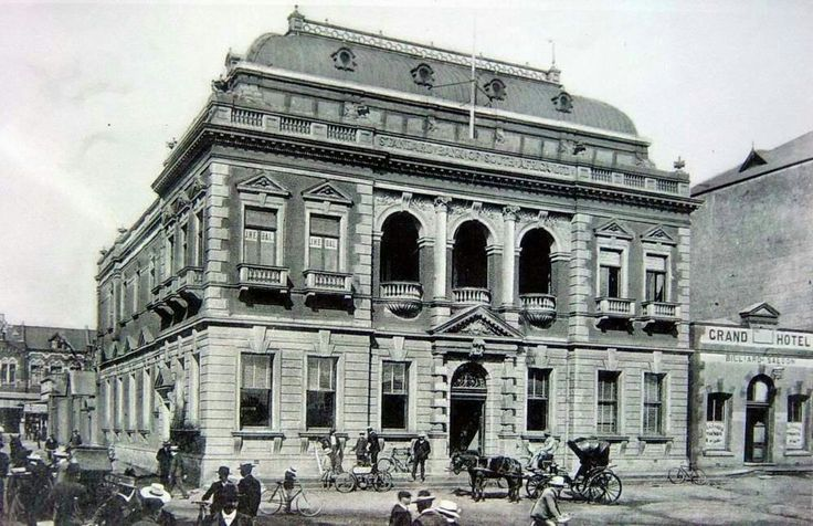 Old Standard Bank building in Pretoria,South Africa in the early 1900s.