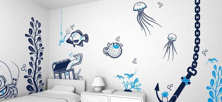 Children's Wall Decals http://www.differentdesign.it/2014/08/02/children-wall-decals/ Children's Wall Decals è la #collezione di #adesivi murali per personalizzare le #camere da #letto dei vostri #bambini, realizzata dallo studio creativo francese