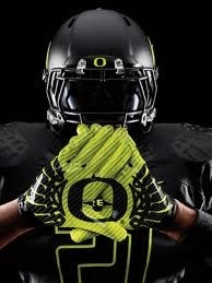 Oregon football player. Gloves