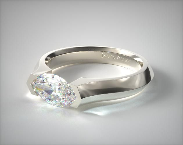 18K White Gold Knife Edge Tension Set Engagement Ring | Featuring a knife edge shank this tension ring is catered to the marquise cut diamond of your choice. *Ring width will vary depending on the size of the center stone. | Ring Style 17212W on JamesAllen.com. Click to view this ring in 360° HD.
