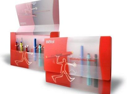 Berol Polypropylene Wallet - a creative packaging solution produced by Cedar Packaging