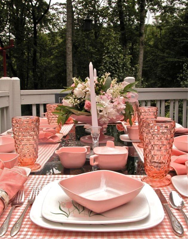 1956 Quot Brookpark Quot Retro Tablescape Eclectic Dining Room