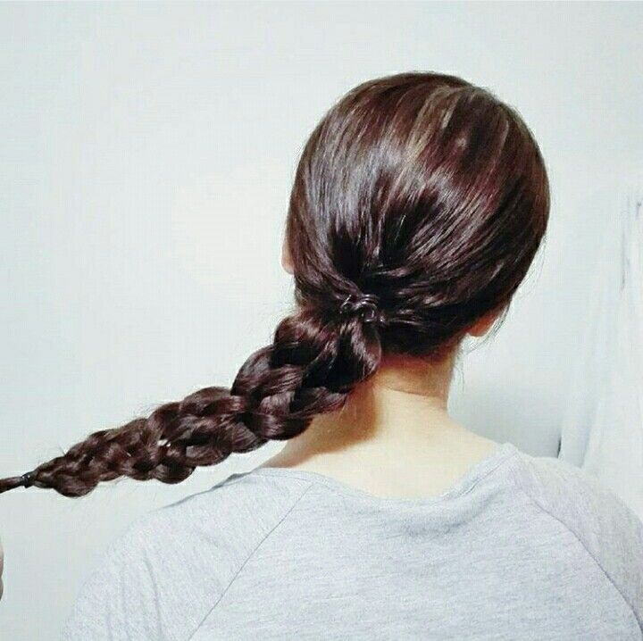 #fivestrandbraid #ponytail #hairstyle #braid
