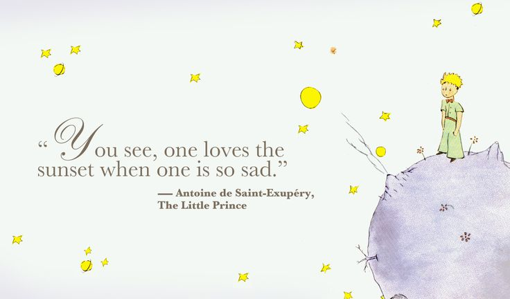 Items Similar To The Little Prince Quote Inspirational: The Little Prince Quotes You See One Loves The Sunset When