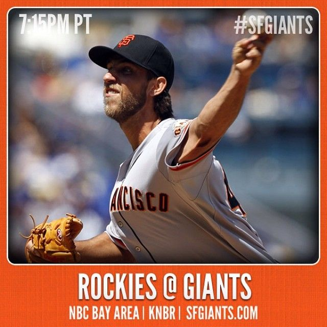 Madison Bumgarner toes the rubber ...