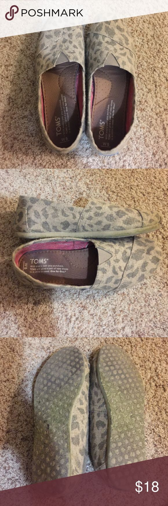 Leopard Toms EUC size 5 Leopard Toms EUC size 5. Smoke and pet free home. Very comfortable! TOMS Shoes Flats & Loafers