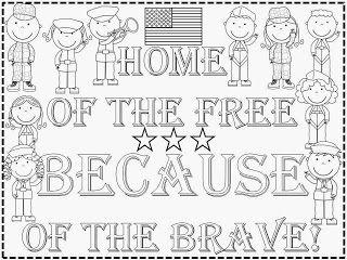 FREEBIE:  Veteran's Day Kindergarten Poster fairytalesandfictionby2.blogspot.com