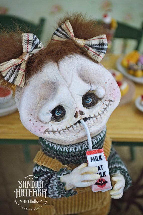 Filomena  halloween feast bat carton milk  Art by SandraArteagA