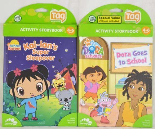 LeapFrog Bundle Tag Book 2-Pack - Ni Hao and Dora by LeapFrog. $27.95. From the Manufacturer                This two book pack comes with  Nickelodeon favorites: Ni-Hao and Dora, bringing books to life with the interactive Tag Reader, sold separately.  Join Kai-lan and friends for a super sleepover and read along as Tolee discovers an important lesson about sharing. Teaches rhyming, Mandarin vocabulary, social skills and sorting and classifying. Learn about sharing and rhyming in...