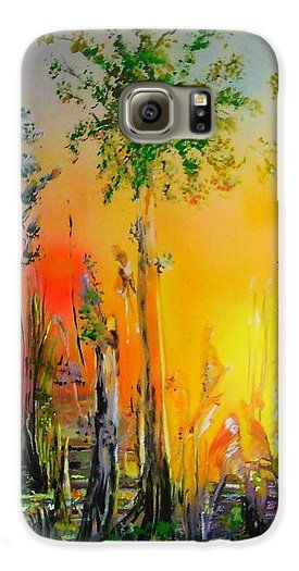 Forest Of Souls Galaxy S6 Case Printed with Fine Art spray painting image Forest Of Souls by Nandor Molnar (When you visit the Shop, change the orientation, background color and image size as you wish)