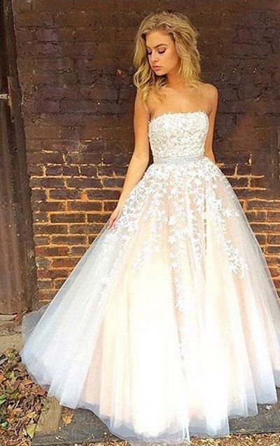 Gorgeous Strapless Long Prom Dress Wedding Dress Wedding Dresses Bride Gowns