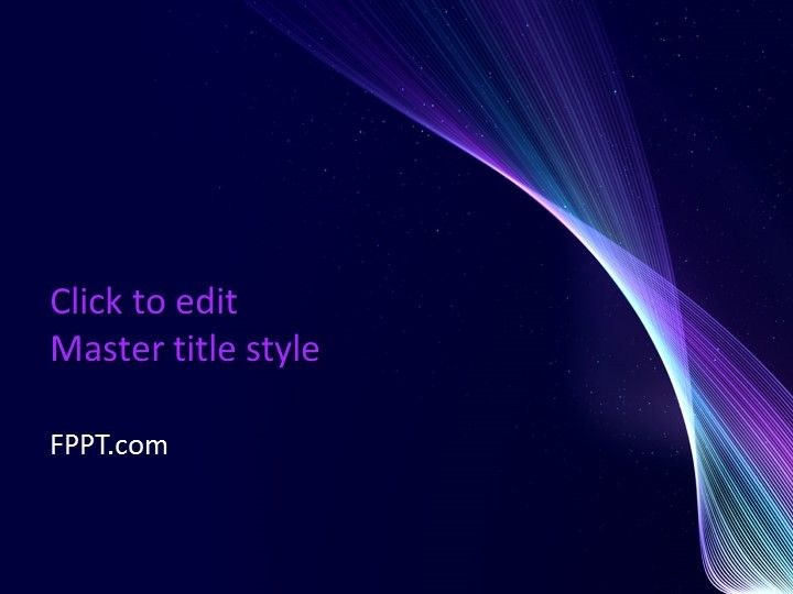 Abstract template designs are multipurpose designs for PPT presentations. This Free Shine PowerPoint Template is an outstanding abstract design with the image of the white wavy structure.