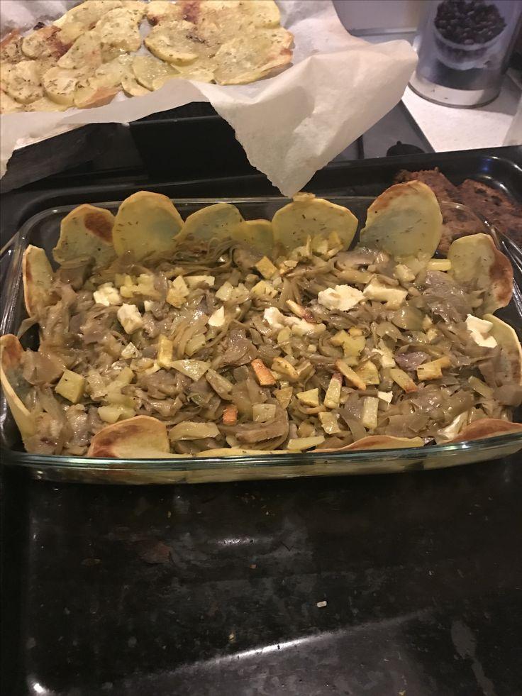 Sformato patate e carciofi
