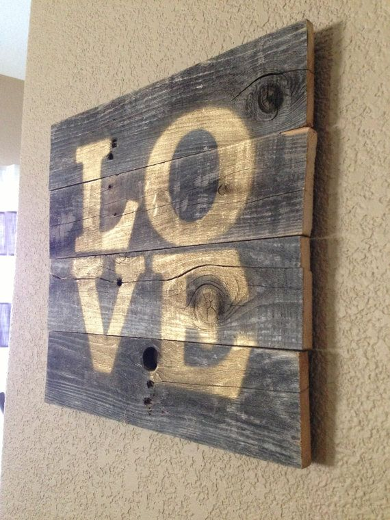 Perfect for Valentines Day & All Year Long!! Repurposed Wood LOVE Sign- One of a kind