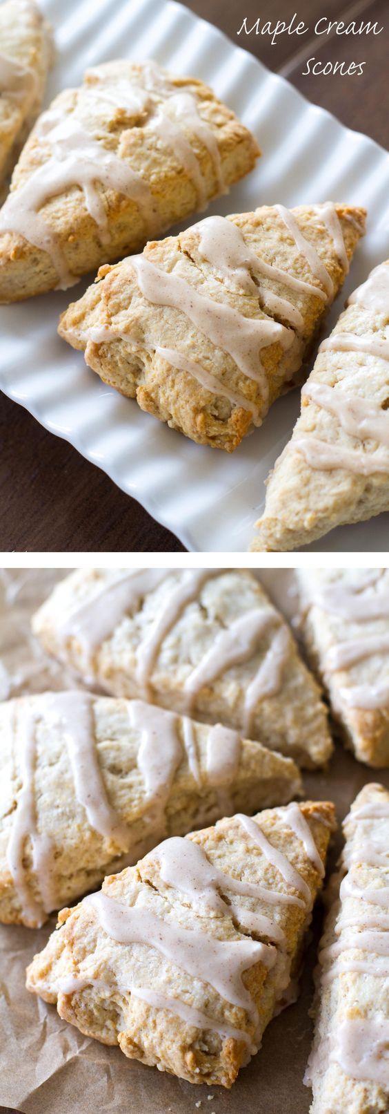 Maple Cream Scones | Recipe | Sweet, Cinnamon and Spices