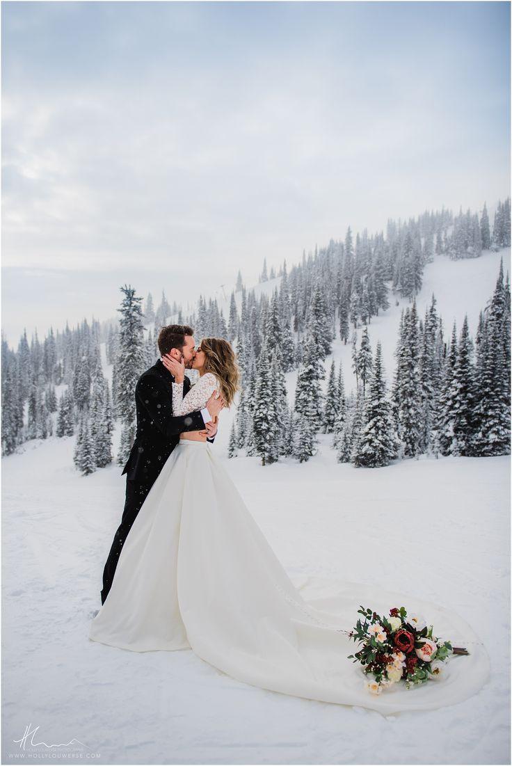 Ski Hill Winterhochzeit! Kamloops und Okanagan Hochzeitsfotograf Holly Louwe …   – Adventure Weddings