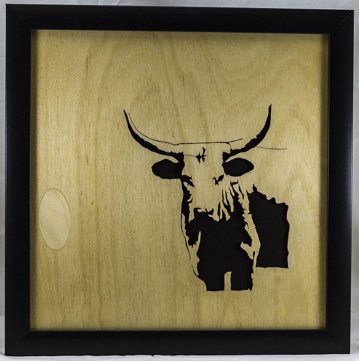 Scroll Art - Longhorn Steer