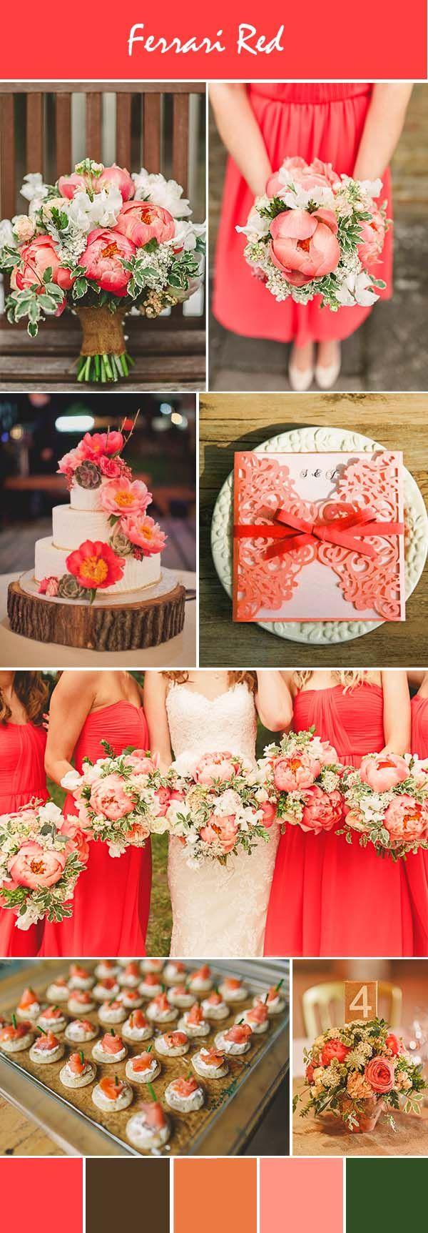 vibrant pink rustic wedding ideas and invitations