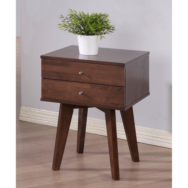 Jones Wenge 2-drawer Nightstand   Overstock.com