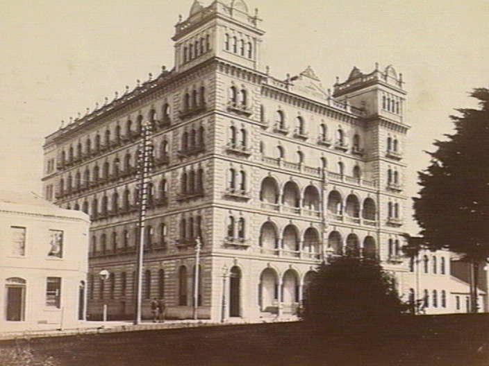 The original Grand Hotel (later the Windsor) in Spring Street, Melbourne, c. 1884