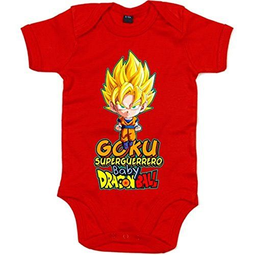 Body bebé Dragon Ball Goku superguerrero baby - Rojo, 6-12 meses #camiseta #realidadaumentada #ideas #regalo