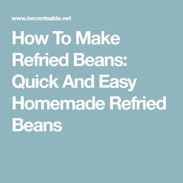 how to make traditional refried beans