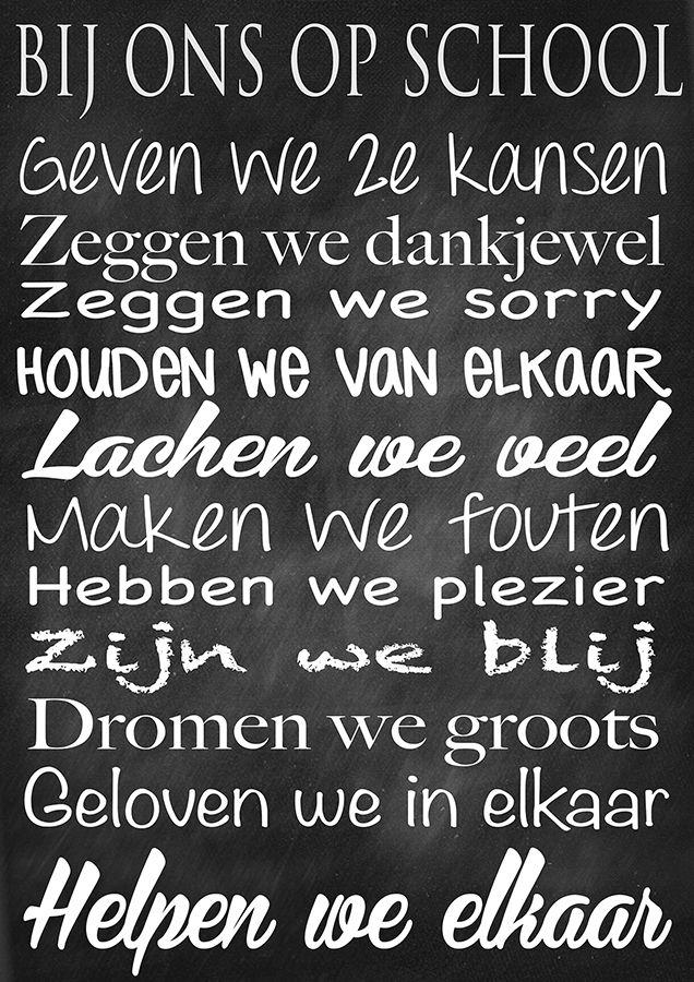 Bij ons op school - Grotere versie op te vragen - Meestertim.nl