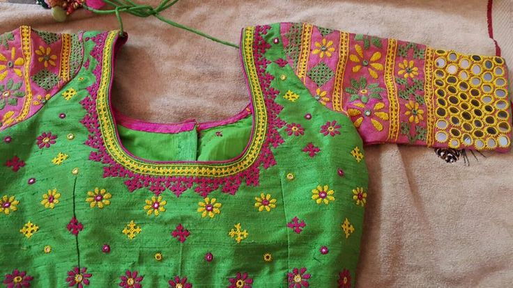 kutch work embroidery blouse – blousebackneckdesigns.com
