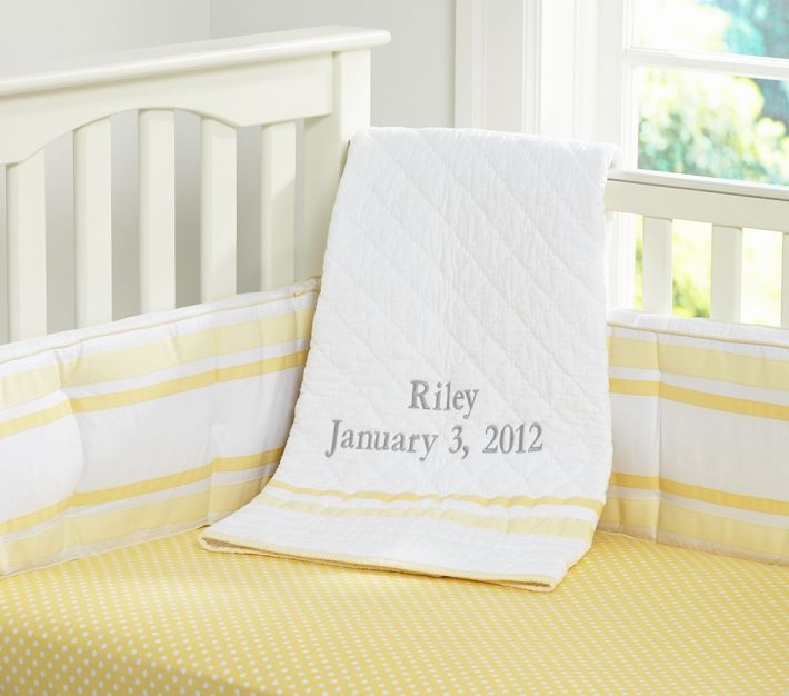 pottery barn kids mini dot fitted sheet, yellow $19---Love these colors!