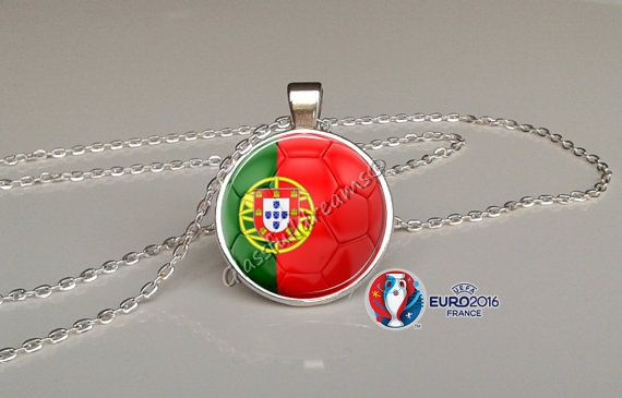 France 2016 Euro Cup Portugal Group F  Pendant by Glassfulldreams