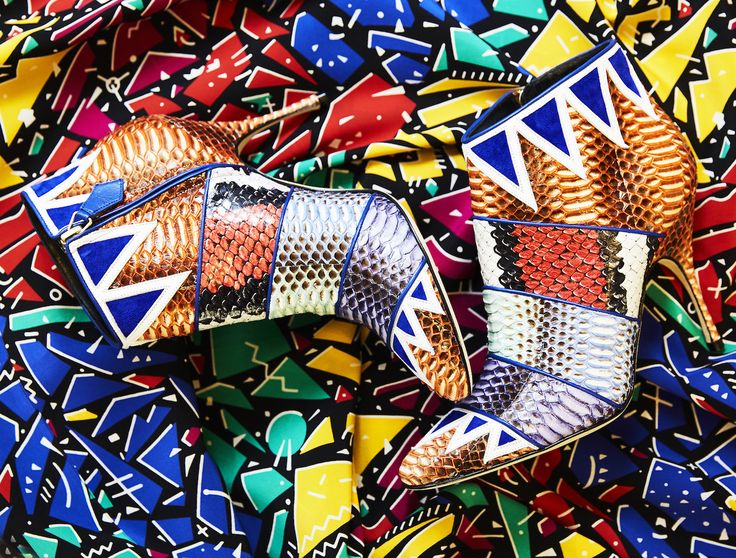 Manolo Blahnik's exotic ankle boots